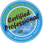 Certification Logo: Green Industries Certified Professional, Best Management Practices from University of Florida
