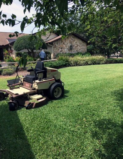 Performing Lawn Maintenance